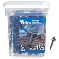 "Teks 21406 Hex-Head Roofing Screws, # 9 x 1-1/2"", 300 Piece"