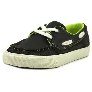 Clarks Club Ocean Toddler W Moc Toe Leather Gray Boat Shoe