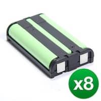 Replacement Battery For Panasonic KX-TG6500  Cordless Phones - P104 (850mAh, 3.6V, Ni-MH) - 8 Pack