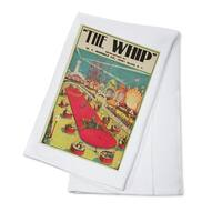 The Whip Coney Island USA c. 1906 - Vintage Ad (100% Cotton Towel Absorbent)