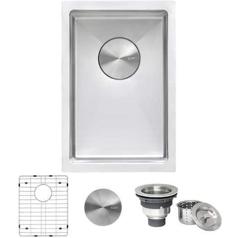 Ruvati 12 inch Undermount Bar Prep Tight Raduis 16 Gauge Kitchen Sink Stainless Steel Single Bowl - RVH7112