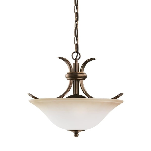 Sea Gull Lighting 75360-829 2-Light Rialto Pendant Fixture Russet Bronze