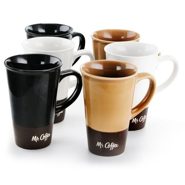 Mr. Coffee Cafe Zortea 6 Piece 16 Ounce Ceramic Mug Set in Assorted Colors. Opens flyout.