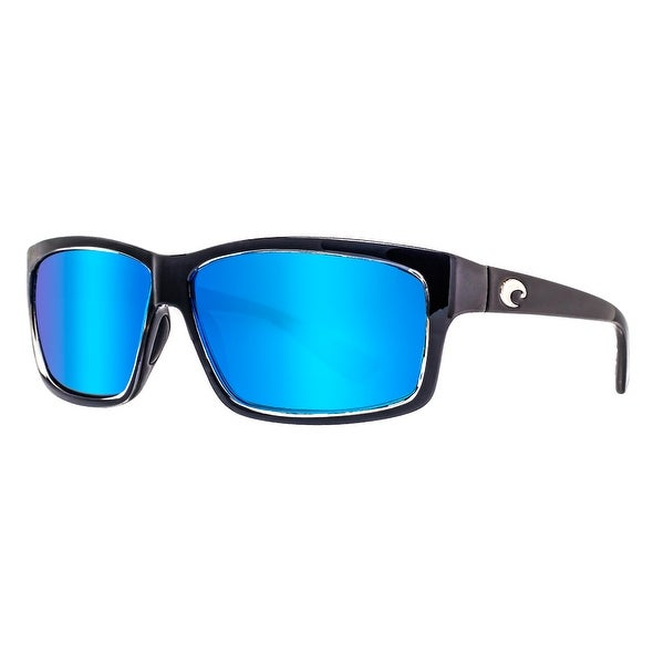 c440ad0e625 Costa Del Mar Cut UT47OBMGLP Squall Black 580G Blue Mirror Polarized  Sunglasses - squall black -