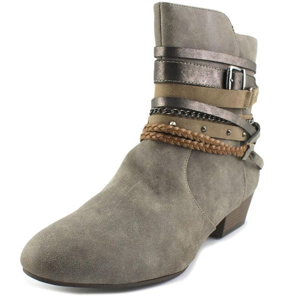 Jellypop Foxy Women Round Toe Synthetic Gray Ankle Boot