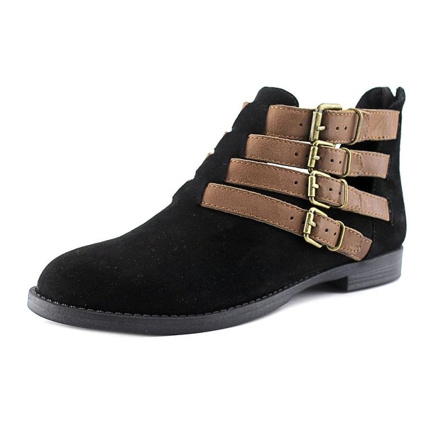 Bella Vita Ronan Women Black Suede/Camel Boots