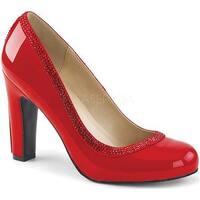 Pleaser Pink Label Women's Queen 04 Pump Red Patent