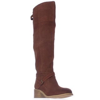 mojo moxy Rebel Over The Knee Casual Boots - Cognac