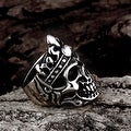Vienna Jewelry Stainless Steel Skull King Ring - Thumbnail 1