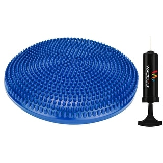 "Wacces 13"" Athletic Inflatable Massage Balance Stability Fitness Cushion Disc to Improve Balance & Flexibility, Blue"