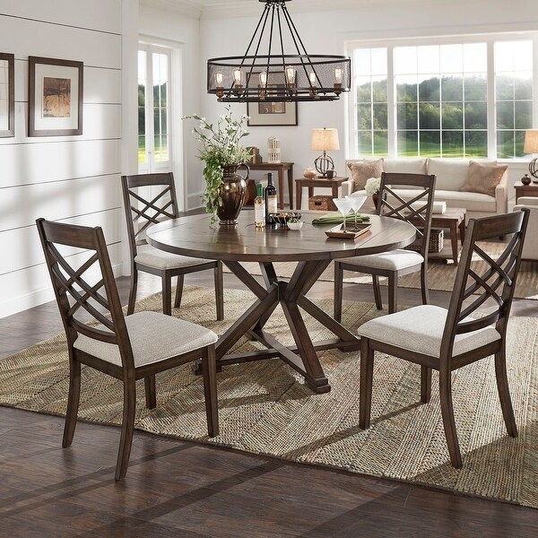 Garrison Espresso Convertible Dining Set By Inspire Q Modern On Sale Overstock 29168118