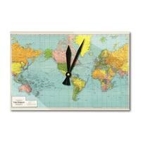 Panoramic Map of the World - 1942 (Acrylic Wall Clock) - acrylic wall clock