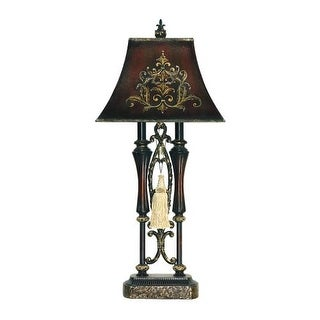 Sterling Industries 91-383 2 Light Double Tassel Iron Table Lamp