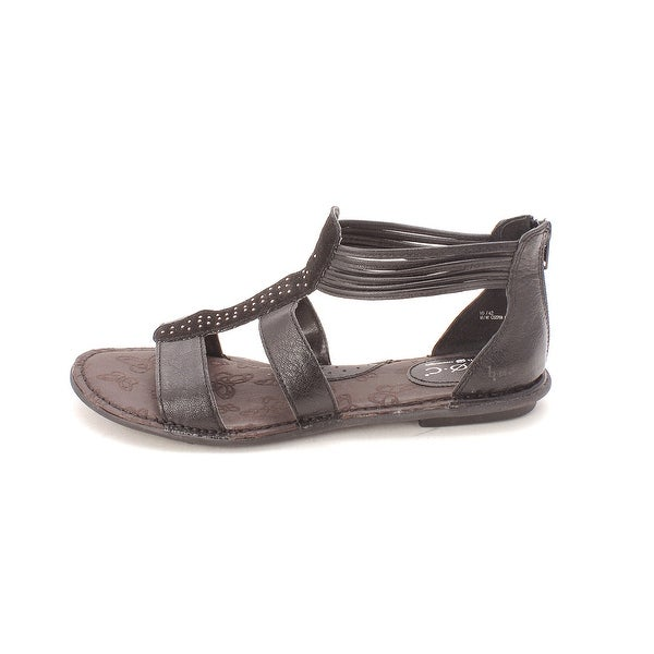 B.O.C Womens Kenza Leather Open Toe Casual T-Strap Sandals