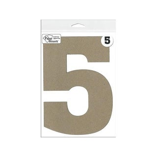 "Chipboard Number 8"" 5 1pc Natural"