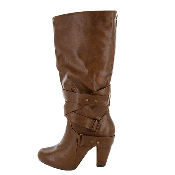 Madden Girl Womens Sargentt Fabric Almond Toe Knee High Fashion Boots