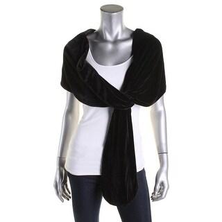 SLNY Womens Shawl/Wrap Velvet Loop-Through - o/s