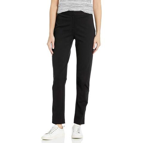Vince Camuto Women's Pants Black Size 10 Slim-Leg Ponte Blind-Hem