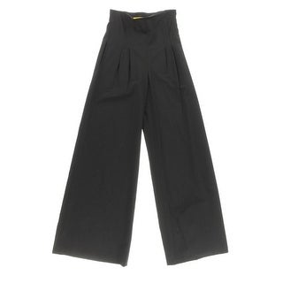 Catherine Malandrino Womens High Waist Trousers Wide Leg Pants - 4