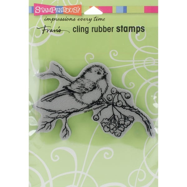 "Stampendous Cling Stamp 4.75""X4.5""-Snow Bird"