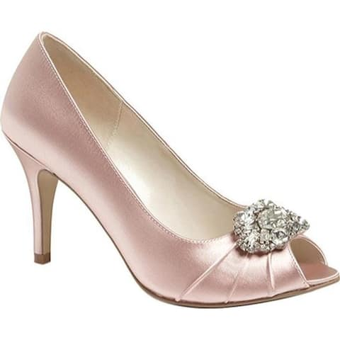 Pink Paradox London Women's Tender Peep-Toe Pump Blush Satin