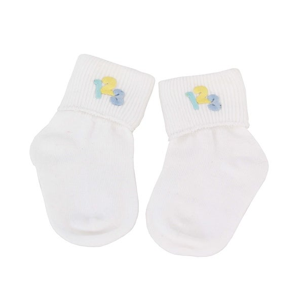 Little Genius with Numbers Bobby Socks for Boys