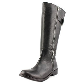 Two Lips Krave Women Round Toe Leather Knee High Boot