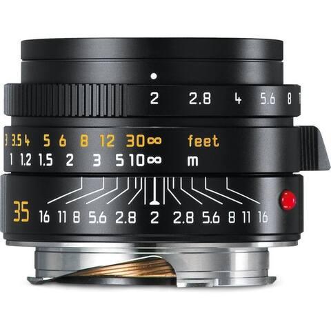 Leica Summicron-M 35mm f/2 ASPH Lens (Black) - Black