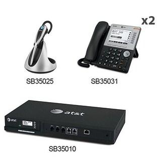 """AT&T SB35010 + (2) SB35031 + (1) TL7800 ATT Syn 248 SB35010 With 2 Multi-Line 5 inches LCD Screen Desksets plus Cordless"