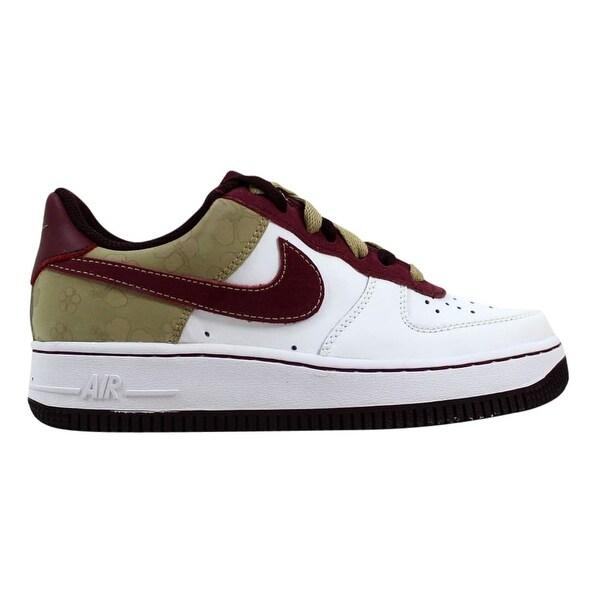 new product db8c8 9ff39 Nike Air Force 1 White Deep Garnet-Deep Bergundy 314219-162 Grade-
