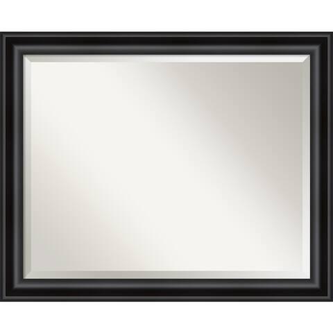Grand Black Narrow Bathroom Vanity Wall Mirror
