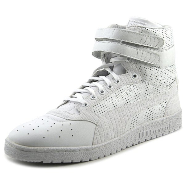 Puma Sky II Hi Mono Texture Men  Round Toe Leather White Sneakers