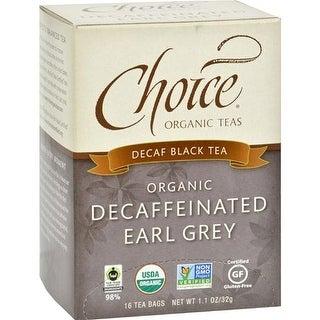 Choice Organic Teas - Decaffeinated Earl Grey Tea ( 6 - 16 BAG)