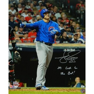 Matt Szczur Chicago Cubs Anthony Rizzo 2016 World Series HR Using Szczurs Bat 16x20 Photo wIts Gott