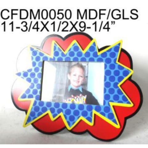 """11.75"""" Red and Blue Rectangular Tabletop Photo Frame"""