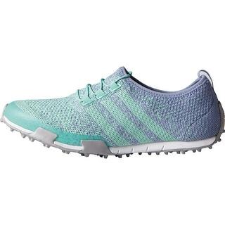 Adidas Women's Ballerina Primeknit Mint Burst/Lavender Mist/Silver Metallic Golf Shoes F33323