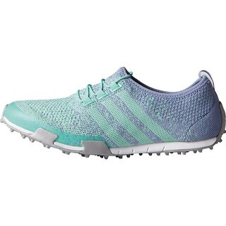 Adidas Women's Ballerina Primeknit Mint Burst/Lavender Mist/Silver Metallic Golf Shoes F33323 (Option: 6)