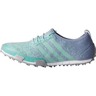 Adidas Women's Ballerina Primeknit Mint Burst/Lavender Mist/Silver Metallic Golf Shoes F33323