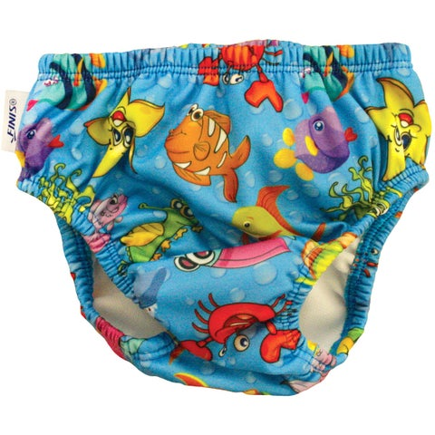FINIS Reusable Swim Diaper - Fishbowl Blue