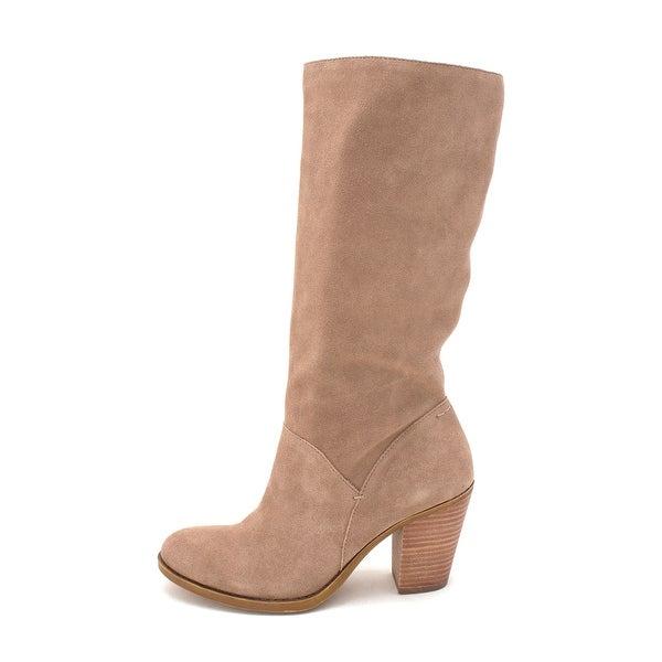 Lucky Brand Womens Eadon Leather Almond Toe Knee High Fashion Boots