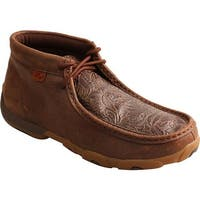 Twisted X Boots Women's Driving Moc Chukka Boot Brown/Brown Print Leather