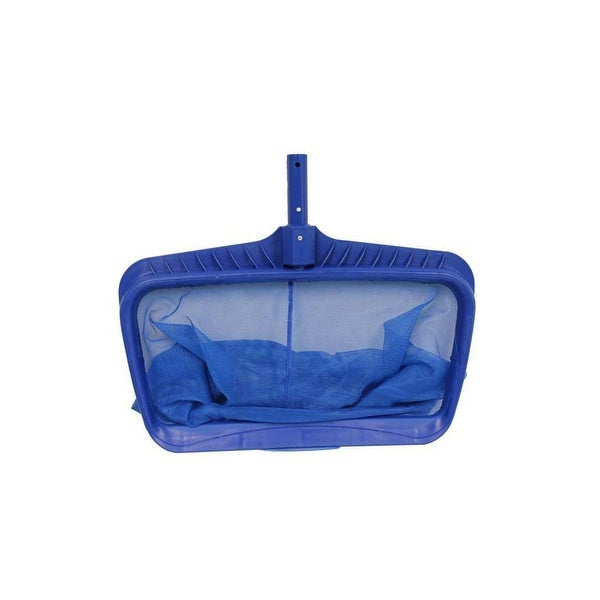 "19.75"" Blue Heavy Duty Deep-Bag Swimming Pool Leaf Rake Skimmer Head - N/A"