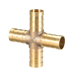 """15/32"""" Brass Barb Hose Fitting 4Way Connector Joiner Hose Barb Connector - 12mm 1pcs"""