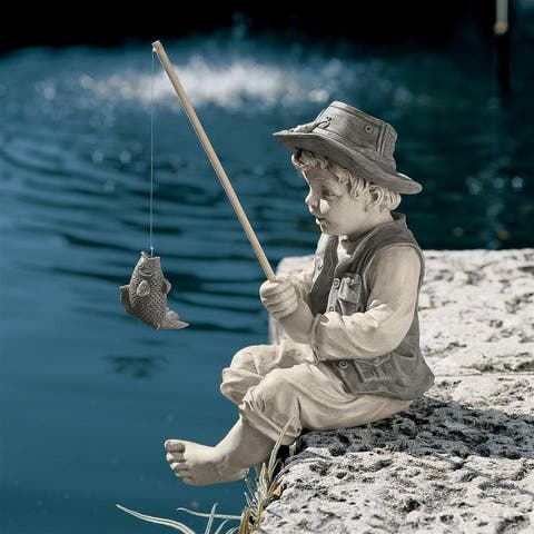 Frederic The Little Fisherman Statue