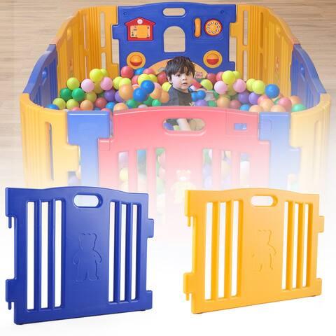 Baby Playpen Kids 8 Panel Safety Play Center Yard Home Indoor