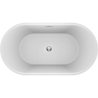 Jacuzzi CEF5932BCXXXX Celeste 59 Inch Soaking Bathtub for Freestanding Installat