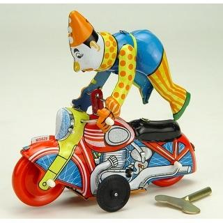 """Vintage Style 6"""" Tin Motorcycle W/ Clown - Multi"""
