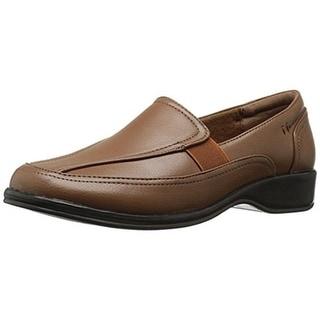 Easy Street Womens Midge Loafers Faux Leather Slip On