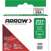 "Arrow Fastener 5/16"" Staple 215 Unit: EACH Contains 5 per case"