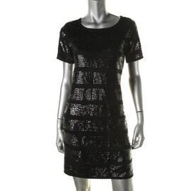 Catherine Malandrino Womens Knit Short Sleeves Clubwear Dress